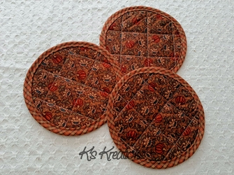 Autumn Pumpkin Patch Coaster Mat