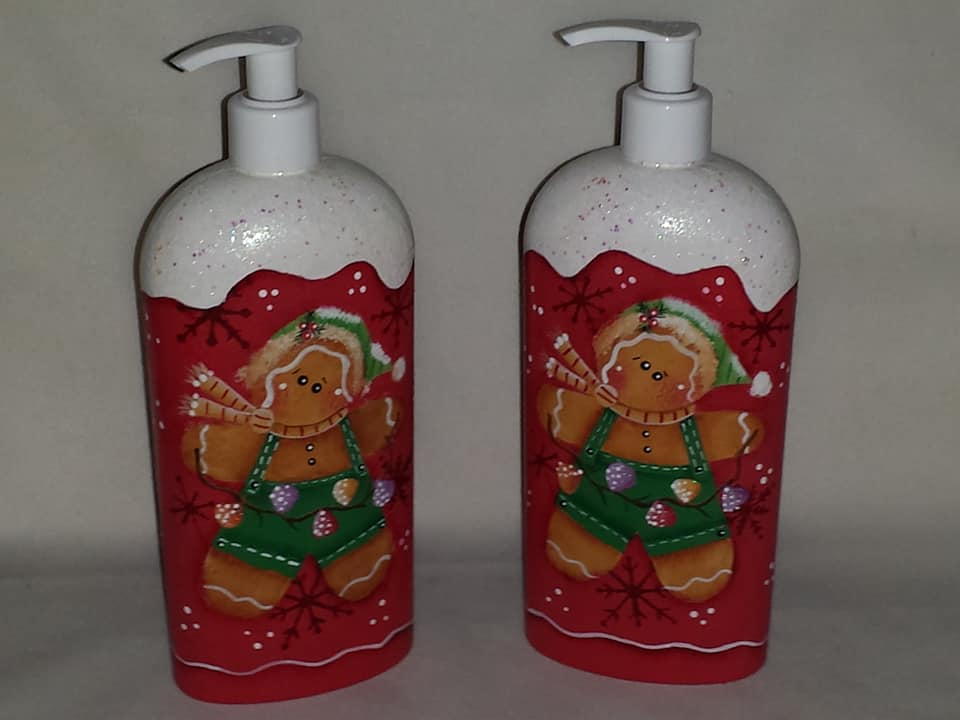 Gingerbread Soap/Lotion Dispenser
