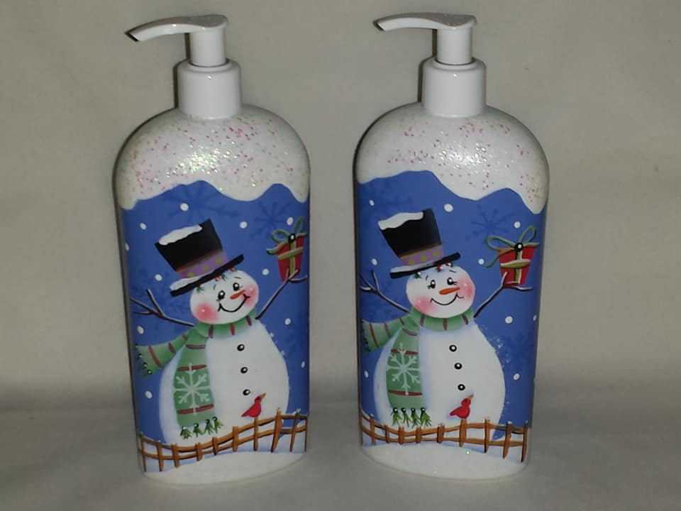 Snowman Soap/Lotion Dispenser