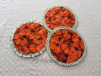 Pumpkin Coaster Mat